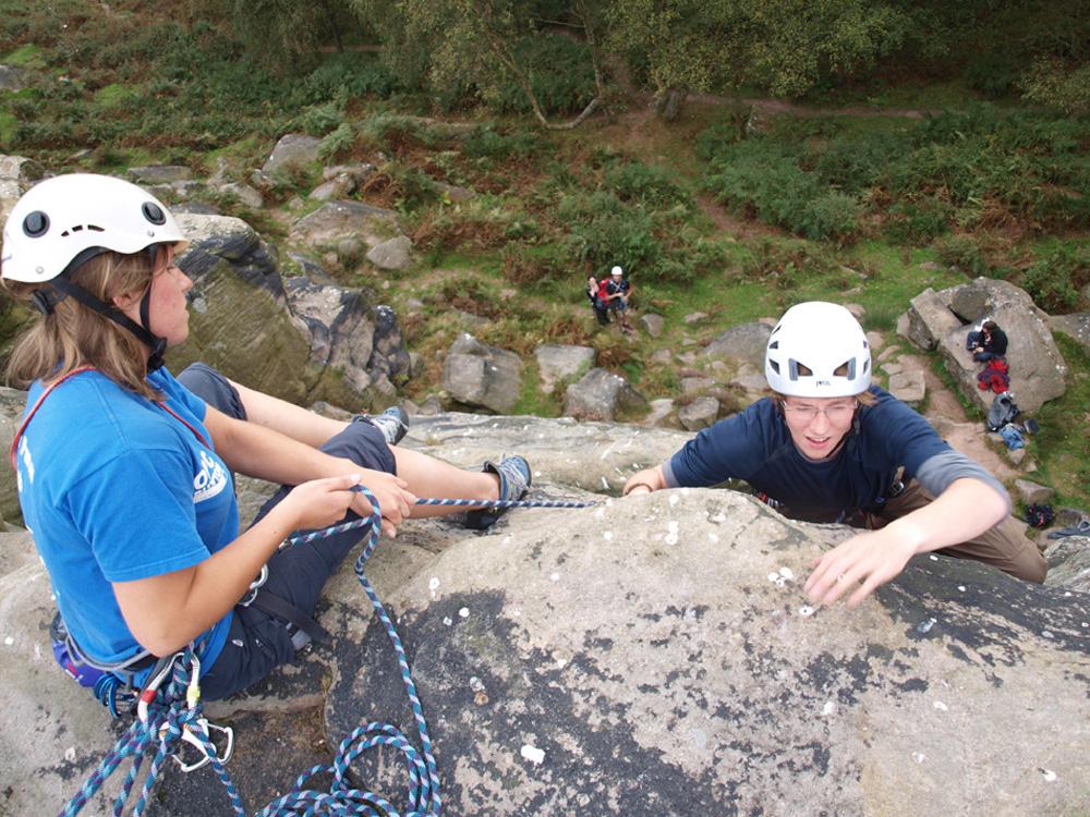 Rock Climbing teamwork activity training