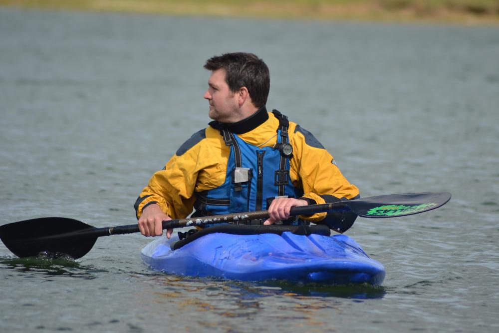 Kayaking on Carsington Water
