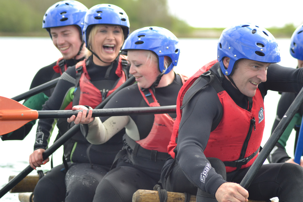 Raft Building team challenge day