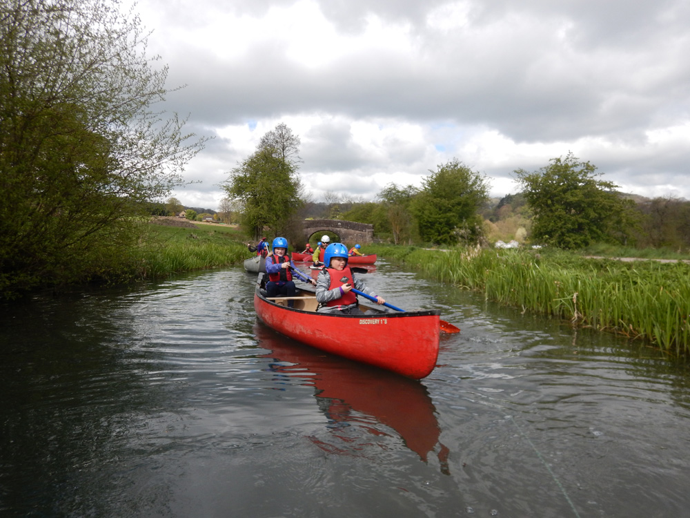 Canoeing in the Derbyshire Peak District