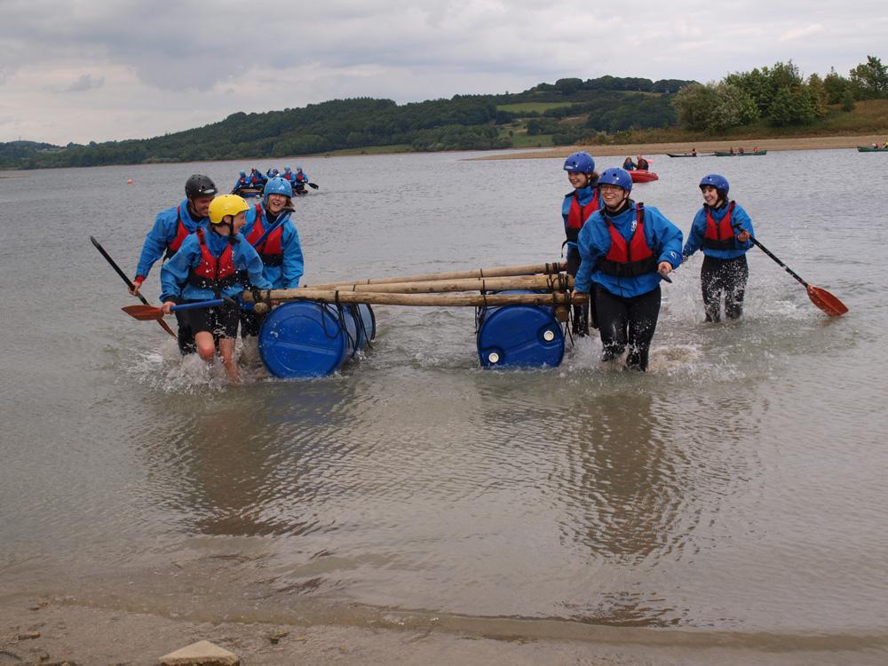 Team Raft Building challenge activity
