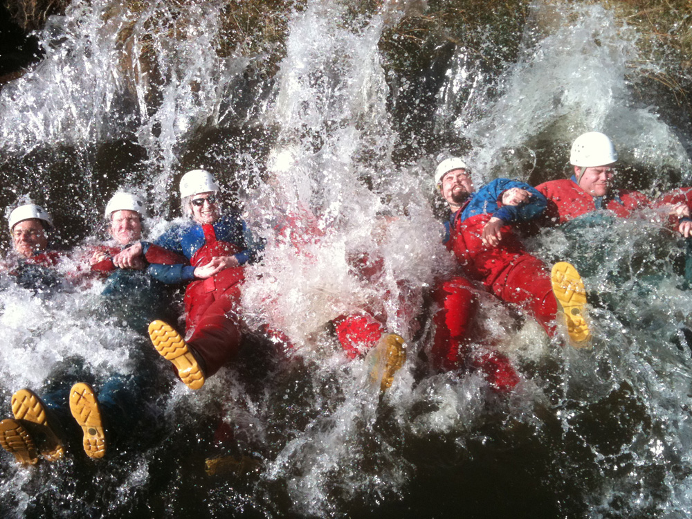 Gorge Scrambling in the water